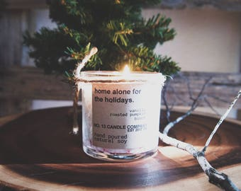 home alone for the holidays natural soy candle