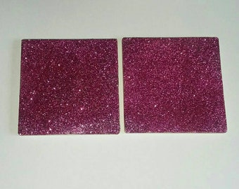 Glitter Coasters, Glitter Dipped Coasters, Glittered Coasters