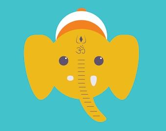 yoga postcard   ganesha   yogagaga - yoga designs for yoga nerds