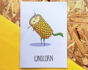 Unicorn — 100% Recycled Greetings Card