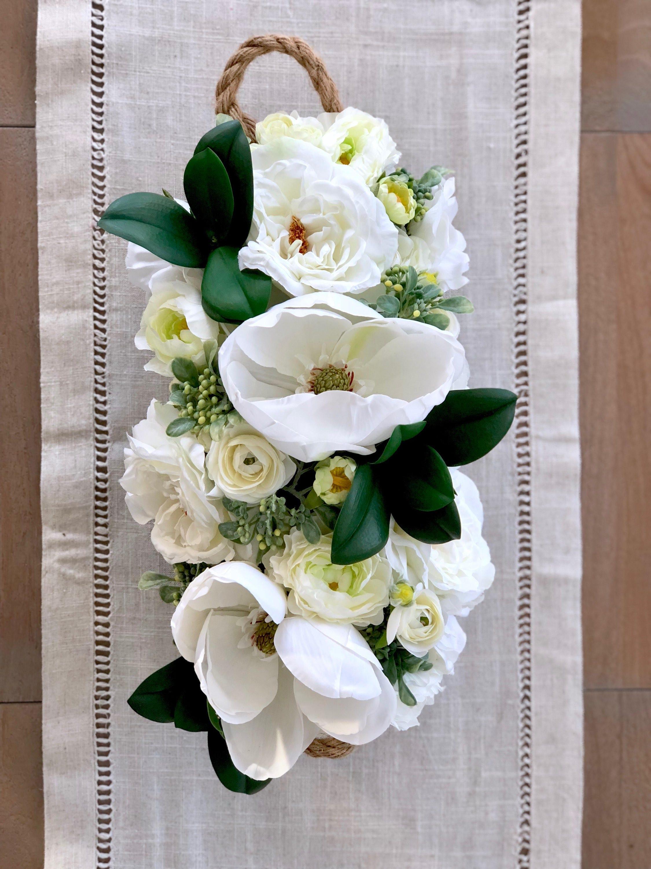 Lovely Magnolia Farmhouse Artificial Floral Arrangement Etsy