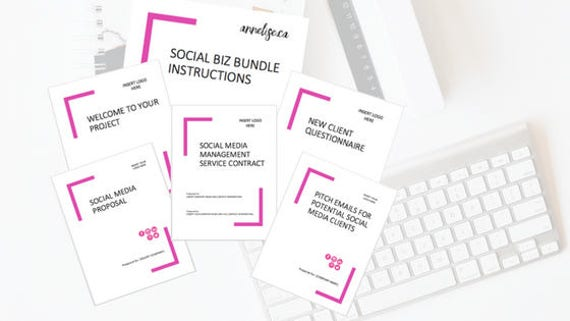 Social Media Manager Template Package Social Biz Bundle
