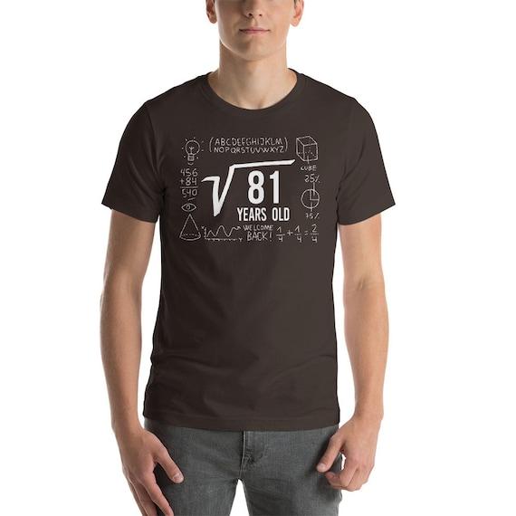 9e anniversaire chemise - tournant chemise 9 - 9 - ans vieux anniversaire - 9 anniversaire du Nerd chemise - chemise de mathématiques - racine carrée - Geek anniversaire d2b3ea