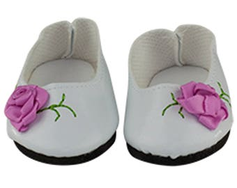 bcdc1f83d24e White Dress Shoes – With a Pink Rose