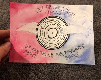 Let me hold your hand Vinyl lovers painting