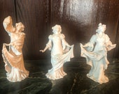 Volkstedt Muller Three Graces Figurines in Porcelain