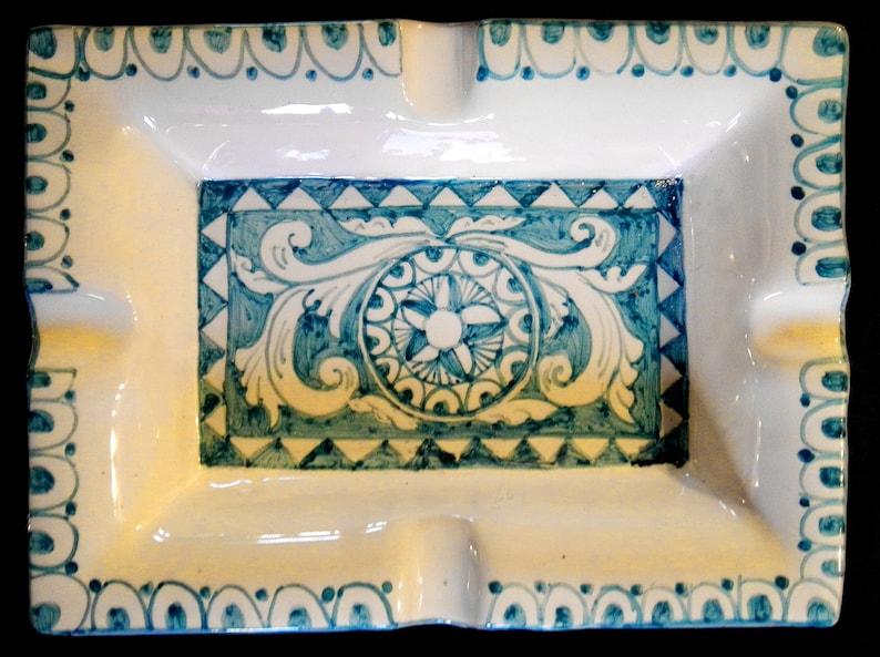 Posacenere in ceramica con decori dei carretti siciliani etsy