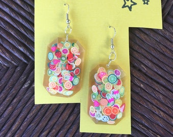Juicy Fruit Drop Earrings