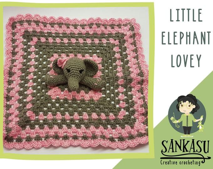 elephant / baby blanket / security blanket / newborn present / baby shower gift / cute baby toy / sankasu