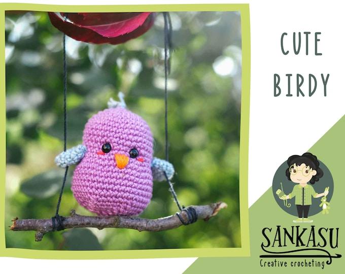 cute birdy / amigurumi / nursery decor / hanging decoration / spring / love