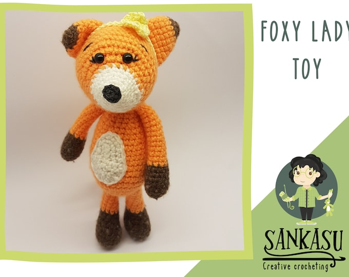 Fox toy, woodland creature, crocheted gift for mom