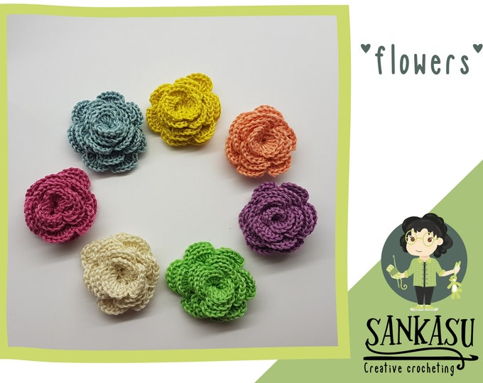 flower brooch / hande made accessory
