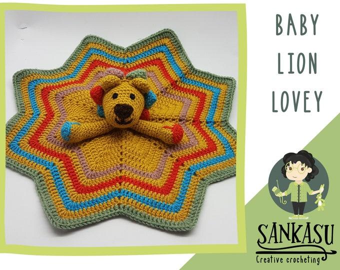 Comfort blanket / baby blanket / loveys / crochet baby blanket / awesome toy / newborn / gift for baby / lion / crochet lion