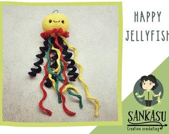crochet jellyfish / summer ornament / sea creatures / sea decoration