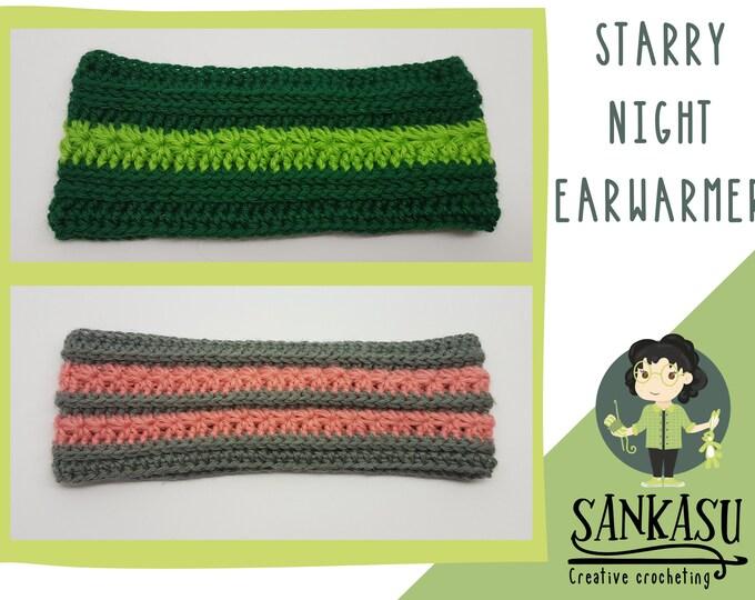 Starry Night Ear Warmer / head warmer / headband / gift for her / cute headband