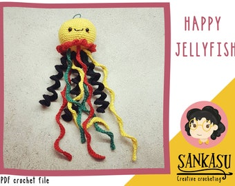 PATTERN jellyfish / summer / sea creature / crocheting instructions