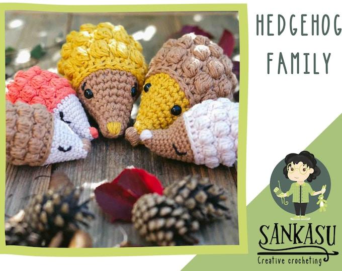 fall decoration / autumn decor / hedgehog family / cute gift / woodland animals / nursery