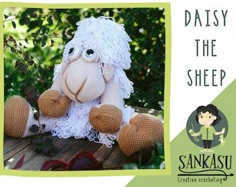 big sheep toy, cute crocheted sheep