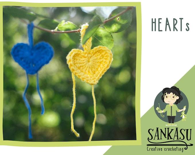 crochet heart decoration / love ornament / christmas tree ornament / little gift