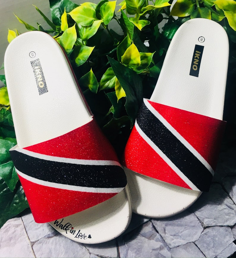 79abfb0d5f3bc Trinidad & Tobago/Glitter Flag Slides