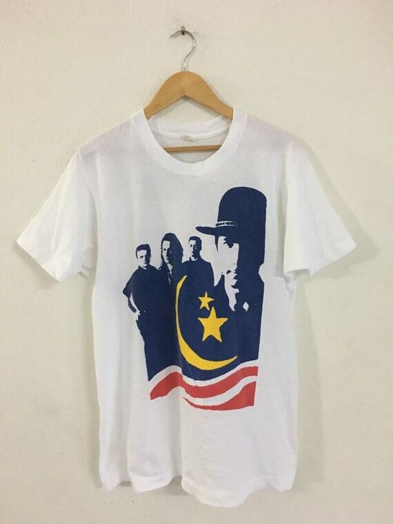 Vintage U2 Band Tshirt 1989s/Vintage Rock Band/Whi