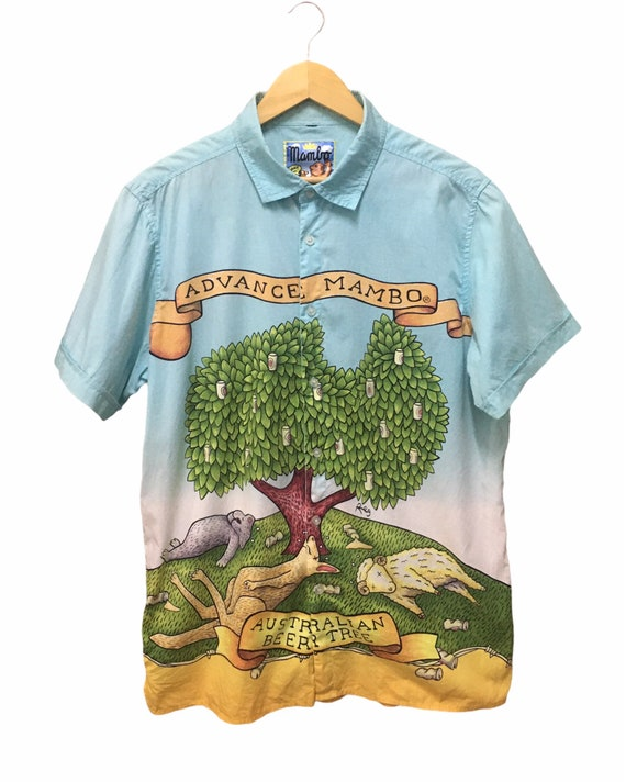 ON SALE!! Vintage Mambo shirt Button Ups/Mambo art