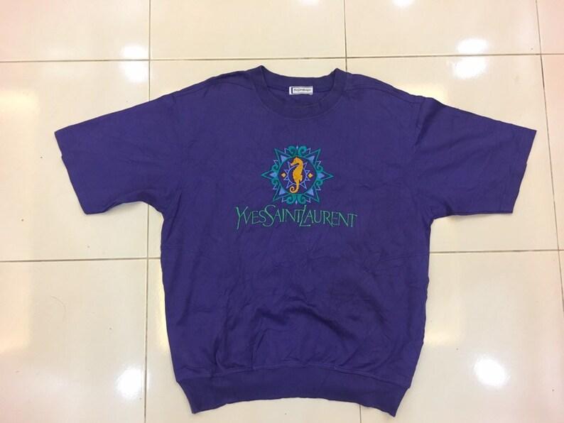 ON SALEE vintage YSL sweatshirt/ Yves Saint Laurent Short image 0