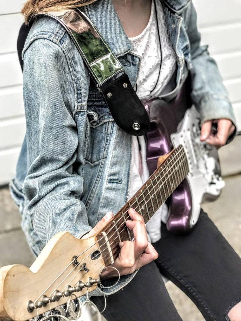 Chrome Silver Handmade Guitar Strap image 0