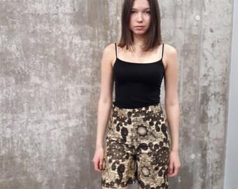 21e1bef4cad103 SALE**African print shorts/ Ankara shorts/ Kitenge shorts/high waist shorts/cotton  wax clothing/ handmade shorts/women's kitenge shorts
