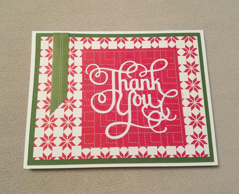 Christmas Card Christmas Greeting Card Thank You Card | Etsy