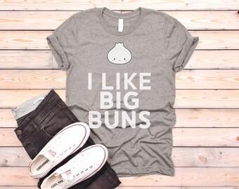 2d044bc2666 I Like Big Buns Dumplings Dim Sum Cute Short-Sleeve Unisex T-Shirt.  YoungRobotDesigns. 5 out ...