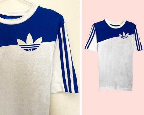 Vintage 1980's Adidas Classic Stripe Tee