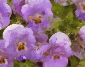 """Purple Poppy 42x49.4cm (16.53x23.39"""") Signed"""