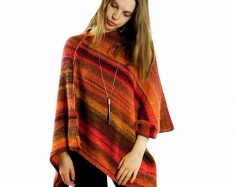 Ponchos || Women crochet poncho | Wool poncho, Chunky knit poncho, Womens poncho sweater, Trendy knitwear Knitted poncho, Poncho cape outfit
