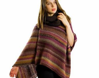 Poncho sweater | Poncho cape for women, Knit ponchos women, Crochet poncho, Boho poncho, Chunky knit poncho, Cozy poncho, Gift ideas for her