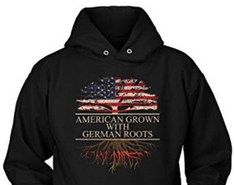 American Grown With German Roots Hoodie