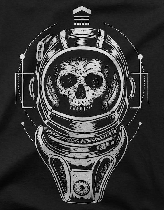 Iltk Calendario.Women S T Shirt Silence In The Library Black White Cosmonaut Skull By Evgeniy Aduev For Gamer Fan Nerd And Geek Shirt Print Black Xs Xl