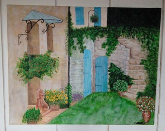 Table Provencal courtyard