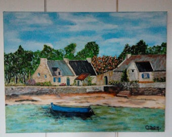 Brittany landscape water painting