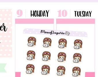 Lulu - Laptop Stickers (Neutral Color Version) / Planner Stickers