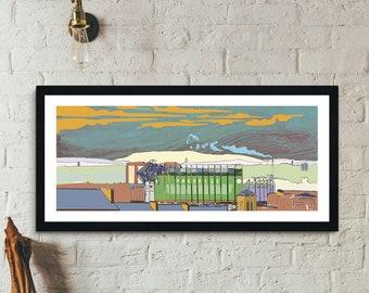 Paradise City - Celtic Park, Glasgow Panorama Landscape Wall Art Print