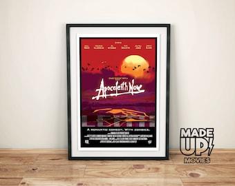 """Retro Poster """"Apocaleith Now"""" Port of Leith, Leith Wall Art, Edinburgh Print, Scottish Art"""