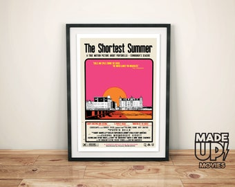"Movie Poster ""The Shortest Summer"" Portobello beach wall art, Edinburgh's Seaside, Scottish Art"
