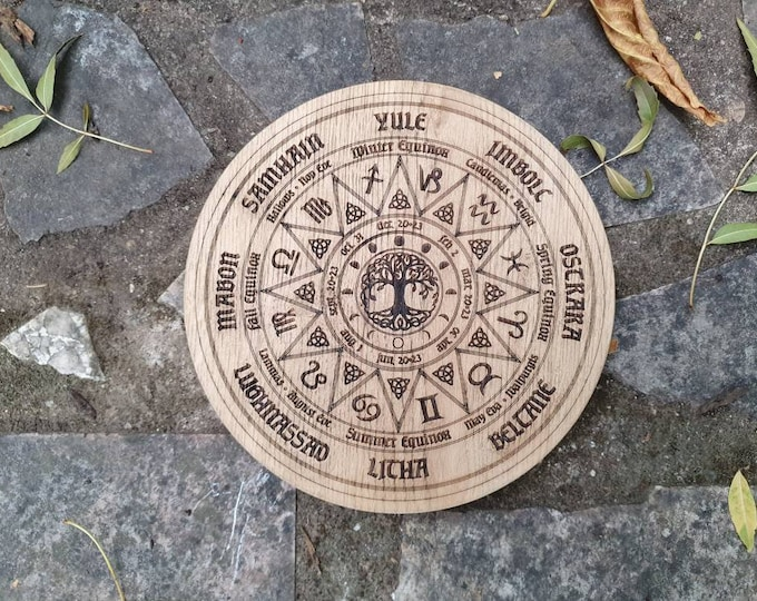 Wicca paggan rune wheel - Wheel of the seasons