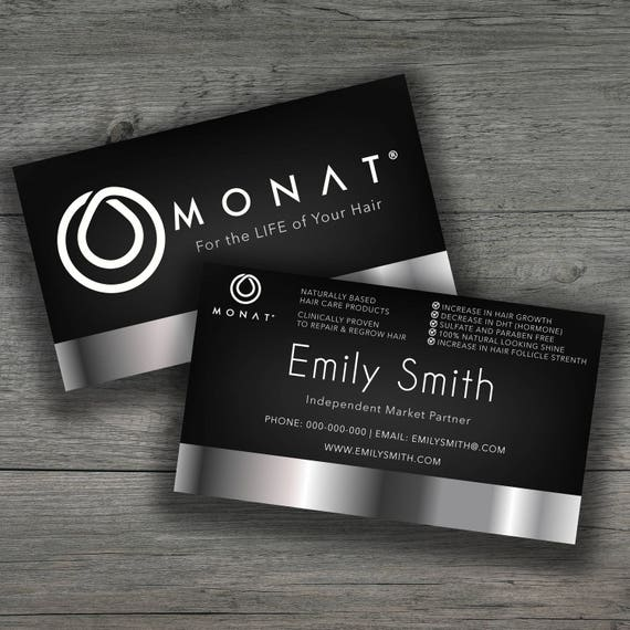 Monat Business Cards 35x2 Inches Monat Business Printable Etsy