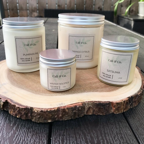 Personalised Vegan Soy Candles Merry Christmas SonDaughter Custom Scented Candle Gift