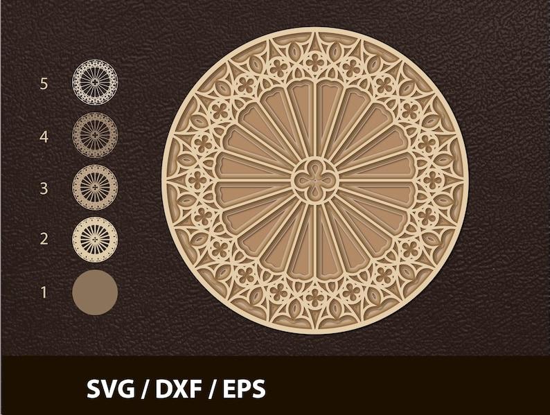Download Layered 3d Mandala svg Mandala SVG Cut file Mandala Cut   Etsy