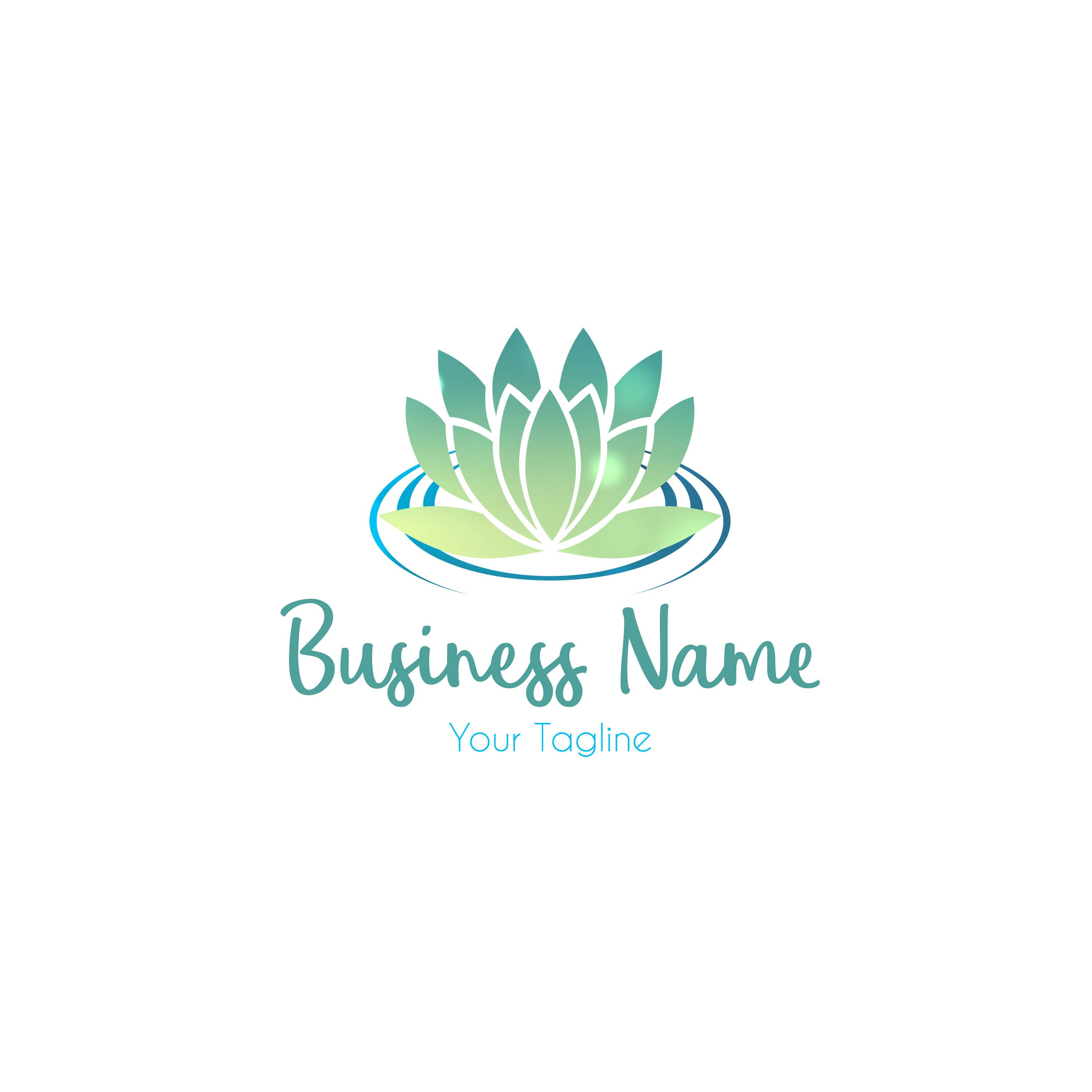 Digital Custom Spa Logo Design Spa Logo Lotus Flower Logo Etsy