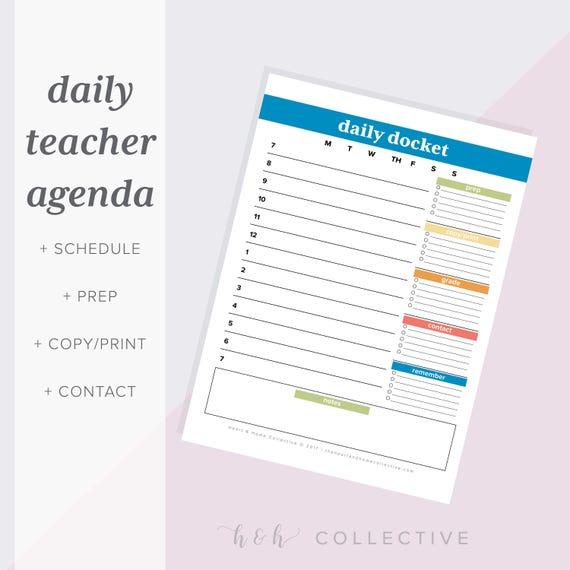 Teacher Daily Planner Organizer