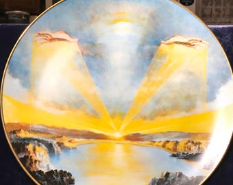 "Vintage 1978 Royal Cornwall ""The Creation"" by Yiannis Koutsis Collectors Plates"